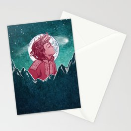 The Astronomer Who Met The North Wind Stationery Cards