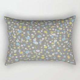 Dotty Yellow Design Rectangular Pillow