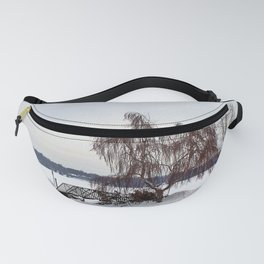 Weeping Willow on the Frozen Lake Fanny Pack