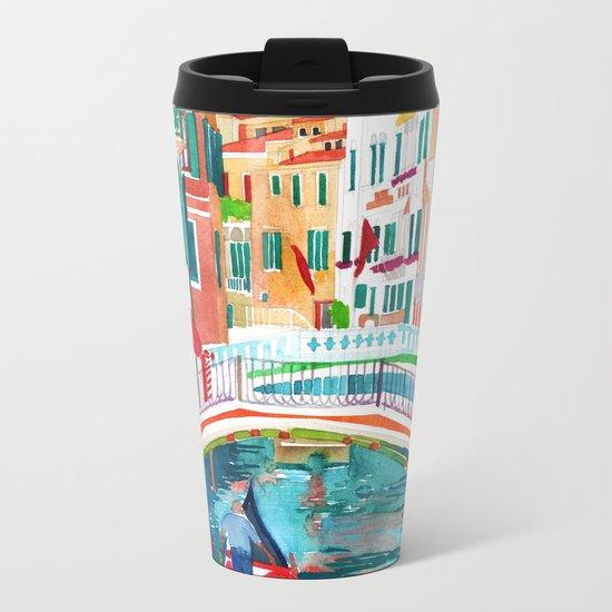 Canal in Venice Metal Travel Mug