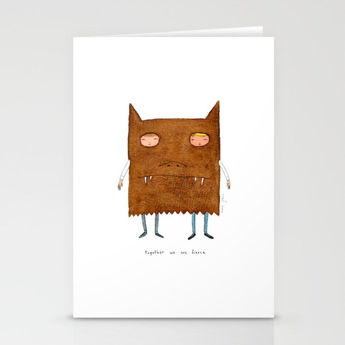 together we are fierce Stationery Cards