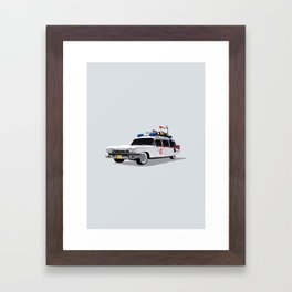 Ghostbusters Illustrated Ecto 1 Framed Art Print