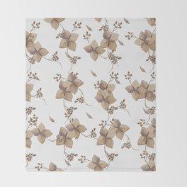 Hydrangea floral Throw Blanket