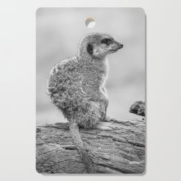 Meerkat (Black and White) Cutting Board