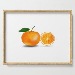 Orange and a Half Serving Tray