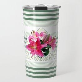 Summer pink lilies Travel Mug