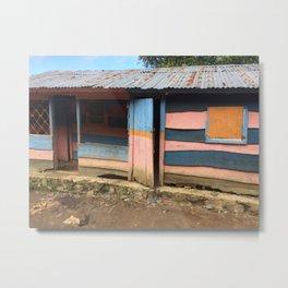 House in Rural Haiti Metal Print