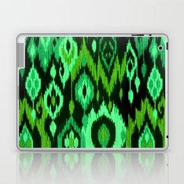 MODERN IKAT TRIBAL PATTERN | green Laptop & iPad Skin