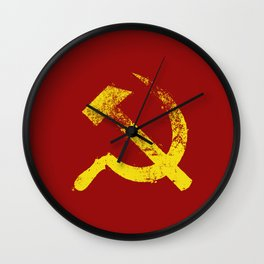 Used Communist Hammer Sickle Wall Clock