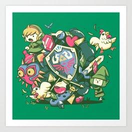 Let's Roll Link Art Print