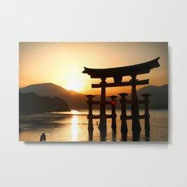 Itsukushima Shrine on Miyajima, Japan Metal Print