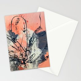 Perennial: abstract floral painting by Alyssa Hamilton Art Stationery Cards