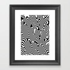 Trippy Background Framed Art Print