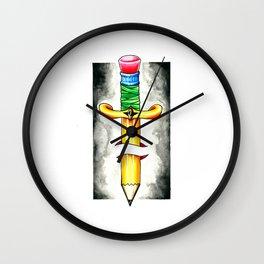 Pencil Dagger Wall Clock
