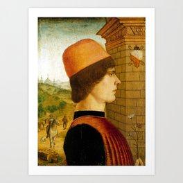 Maestro delle Storie del Pane Portrait of a Man Art Print