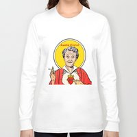 christ Long Sleeve T-shirts featuring Auntie-Christ by MilkGhost