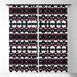 Bubbles Kaleidoscopic Blooming - Magenta - Visual Abstract Art Blackout Curtain