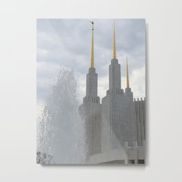 Washington DC LDS Temple Fountain  Metal Print