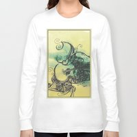 guitar Long Sleeve T-shirts featuring guitar by Joanne Chen