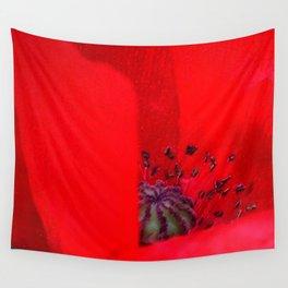 poppy inside Wall Tapestry