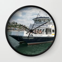 Dart Explorer on the River Dart in Dartmouth Wall Clock