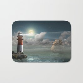 Lighthouse Under Back Light Bath Mat