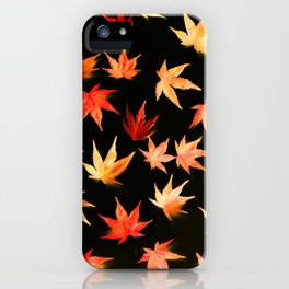 AUTUMN ROMANCE - LEAVES PATTERN #3 #decor #art #society6 iPhone Case
