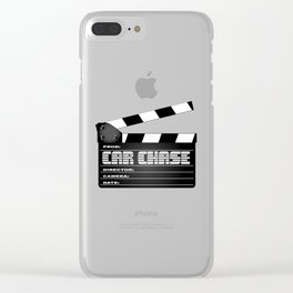 Car Chase Clapperboard Clear iPhone Case