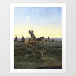 Buffalo Hunter Art Print