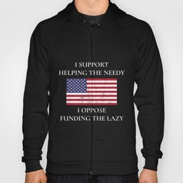 Non Entitlement Ideal Oppose Funding The Lazy Print Hoody