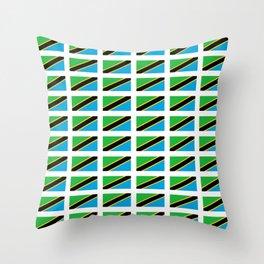 Flag of tanzania -Tanzania,Tanzanian,swahili,Dar es salam,Mwanza,Dodoma,Ngorongoro Throw Pillow
