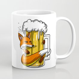 Fox Drinking Beer Party Animal Coffee Mug