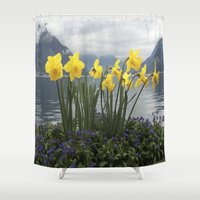 switzerland Shower Curtains featuring Switzerland by NatalieBoBatalie
