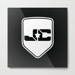 JC Music Shield (IamJackCash) Metal Print