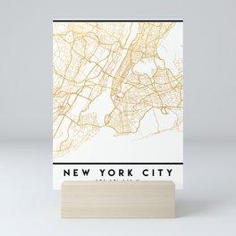 NEW YORK CITY NEW YORK CITY STREET MAP ART Mini Art Print