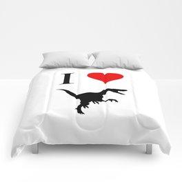 I Love Dinosaurs - Velociraptor Comforters