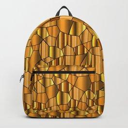 Random Gold Mosaic Background Backpack