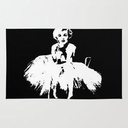 Marilyn Monroe Stencil Rug