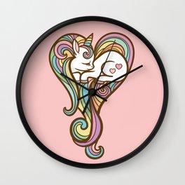 Sleeping Unicorn Wall Clock