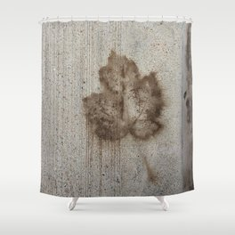 Plastered Memories Shower Curtain