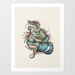 Eastern Dragon Art Print