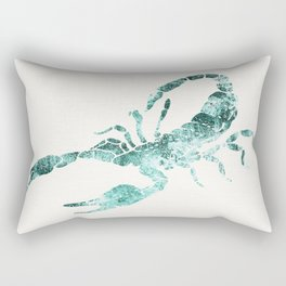 Green Shibori Scorpion  Rectangular Pillow