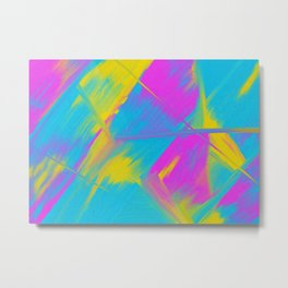 Bright Color Play Digital Oil Painting Metal Print