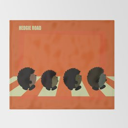 Hedgie road Throw Blanket