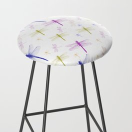 Dragonfly Pattern Bar Stool