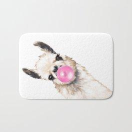 Bubble Gum Sneaky Llama Bath Mat