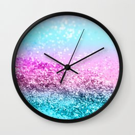 Unicorn Girls Glitter #16 #shiny #decor #art #society6 Wall Clock