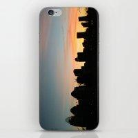 cincinnati iPhone & iPod Skins featuring Cincinnati Skyline by Page Lansley