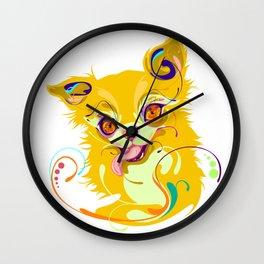 Chihuahua Lick Wall Clock