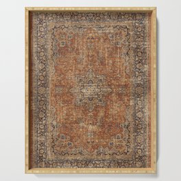 Antique Persian Rug Serving Tray